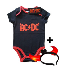 AC/DC Devil Horns Baby Body