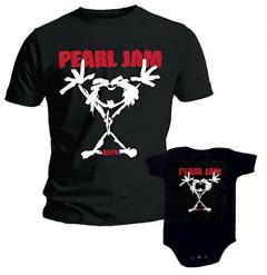 Duo Rockset Pearl Jam Vater-T-shirt & Pearl Jam Baby Body