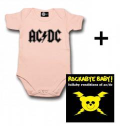 AC/DC body baby rock metal Logo Pink & AC/DC CD