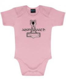 Amon Amarth body baby rock metal Logo Pink Metal-Baby