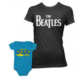 Duo Rockset The Beatles Mutter-T-shirt & The Beatles body baby rock metal Portholes