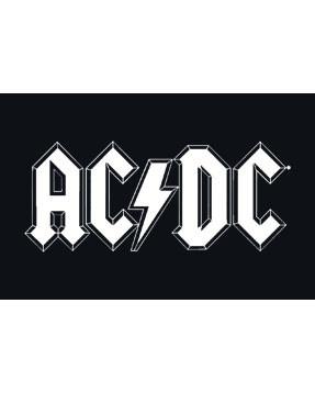 ACDC Baby Body White Logo Metal-Baby