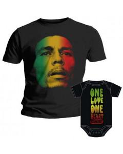 Duo Rockset Bob Marley Vater-T-shirt & Bob Marley Baby Body