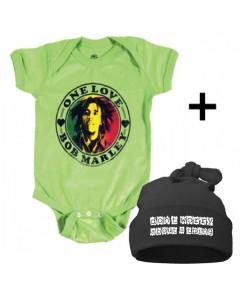 Bob Marley Baby Body & Don't Worry Mützchen