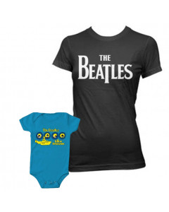 Duo Rockset The Beatles Mutter-T-shirt & The Beatles Baby Body Portholes