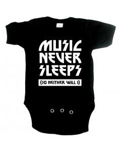 Cool Baby Strampler music never sleeps so neither will I