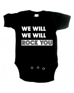 Cool Baby Strampler we will Rock you