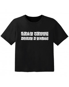cool Kinder Tshirt don't worry about a thing