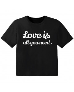 cool Kinder Tshirt love is all you need