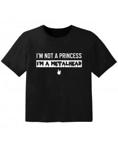 Metal Kinder Tshirt I'm not a princess I'm a Metalhead