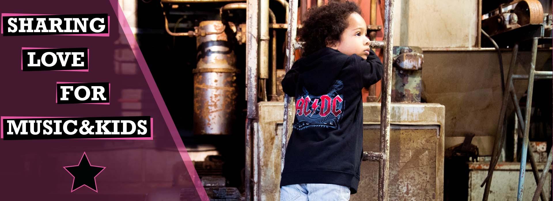 Metal kinder kleding