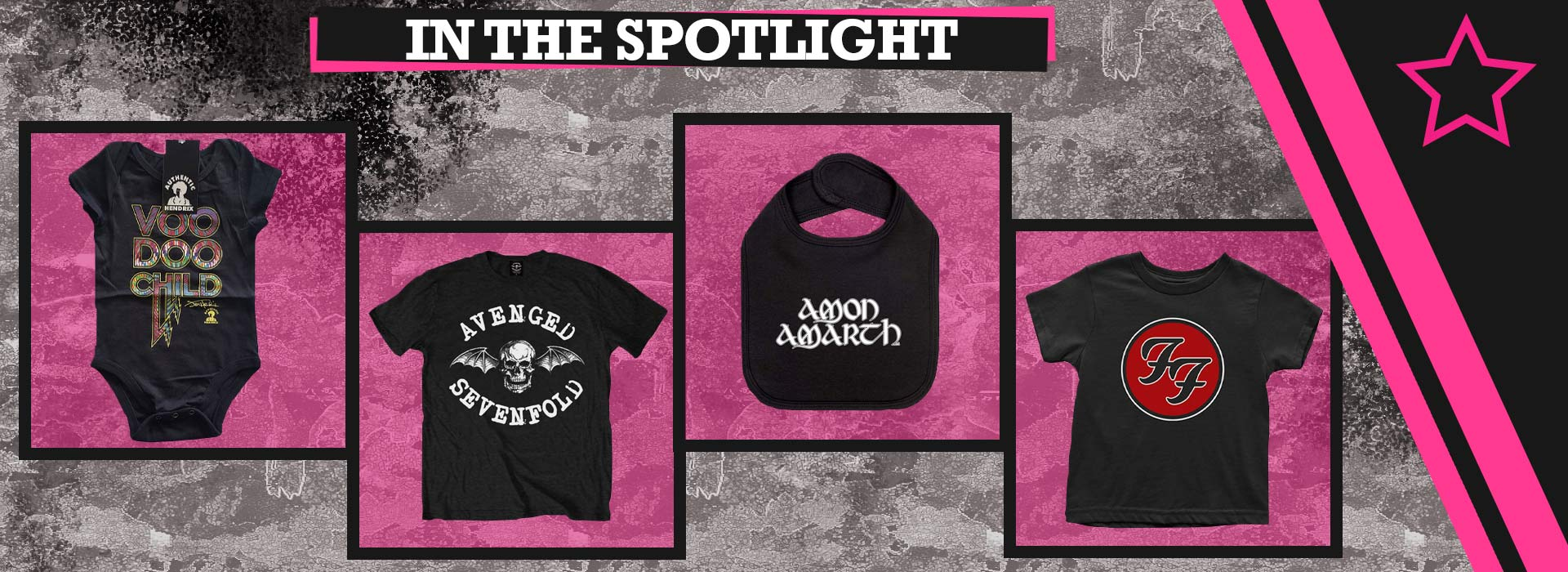 In the spotlight! Jimi Hendrix Avenged Sevenfold Amon Amarth Foo Fighters